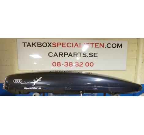 "Takbox Calix 430 Svart högblank - 430 Liter ""Audi Quattro Gecko Edition"""