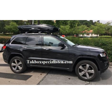 Takbox Thule Motion XT XL Blanksvart på Jeep Grand Cherokee