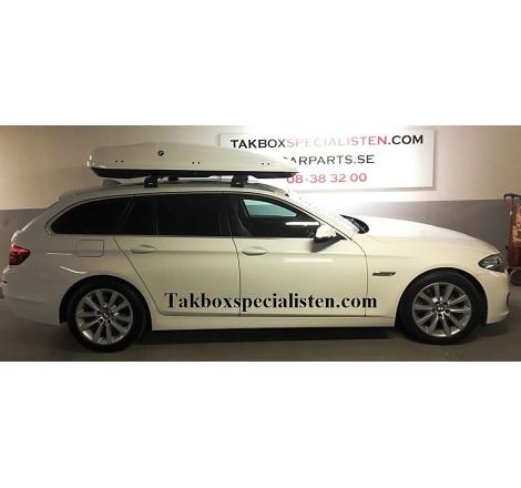 Takbox Hapro Zenith 8.6 Vit högblank på BMW 3 Serie Touring
