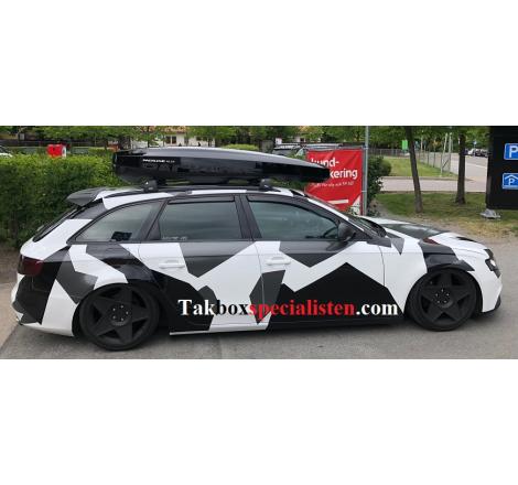 Takbox Packline NX 215 Svart högblank på Audi A4 Avant
