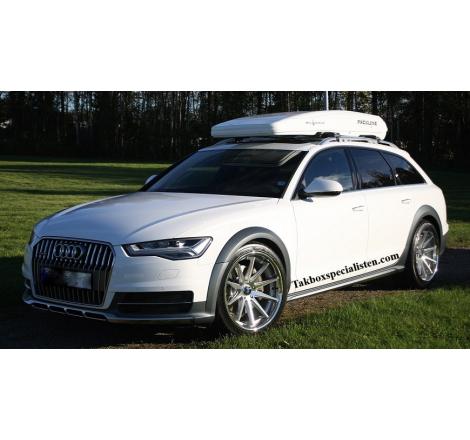 Takbox Packline FX-SUV 2.0 Vit högblank på Audi A6 Allroad