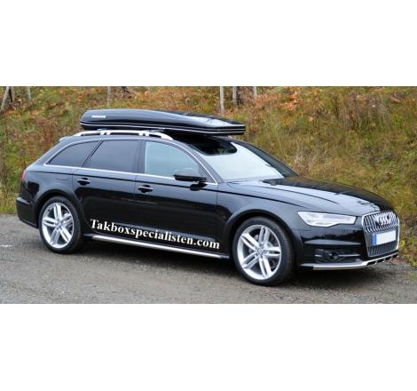 Takbox Packline FX 222 Svart högblank på Audi A6 Allroad