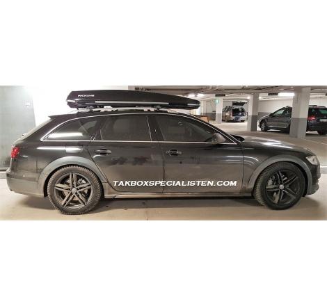 Takbox Packline Offroad Svart högblank på Audi A6 Allroad