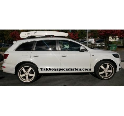 "Takbox Packline FX-SUV 2.0 Vit ""Audi Quattro Edition"" på Audi Q7"