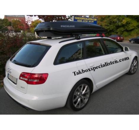 Takbox Packline F Basic Svart matt på Audi A6 Avant