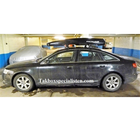 Takbox Packline FX-SUV 2.0 Svart högblank på Audi A6 Sedan
