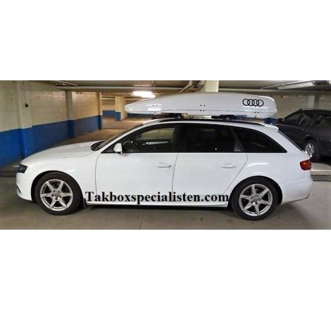 "Takbox Calix 430 Vit högblank ""Audi Edition"" på Audi A4 Avant"