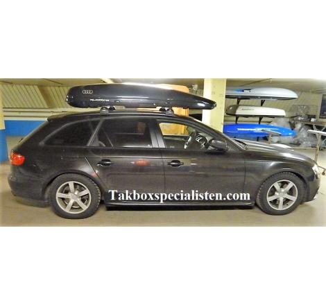 "Takbox Calix 430 / 600 Svart högblank ""Audi Edition"" på Audi A4 Avant"