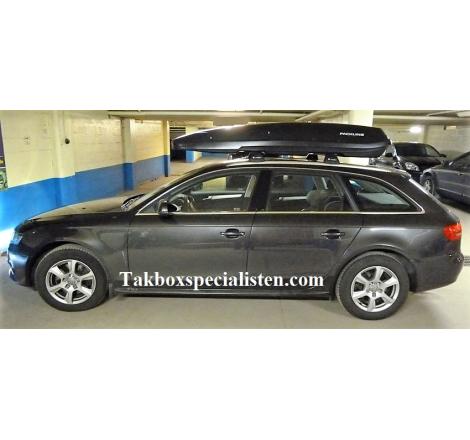 Takbox Packline F Basic Svart matt på Audi A4 Avant