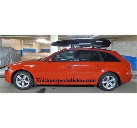 Takbox Packline F Elegance Svart högblank på Audi A4 Avant