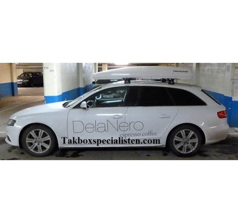 Takbox Packline FX-SUV 2.0 Vit högblank på Audi A4 Avant