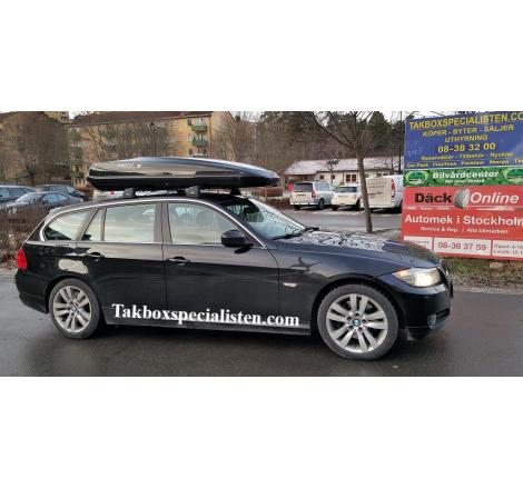 Takbox Hapro Zenith 8.6 Brilliantsvart metallic på BMW 3 Serie Touring