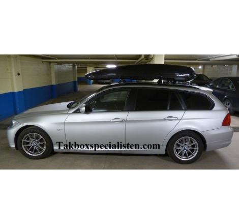 Takbox Calix 430 / 600 Svart högblank på BMW 3 Serie Touring