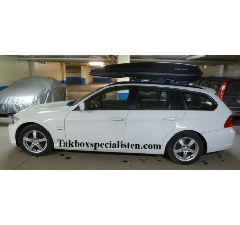 Takbox Packline F Basic Svart matt på BMW 3 Serie Touring
