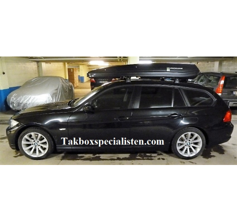 Takbox Packline F Elegance Svart högblank på BMW 3 Serie Touring