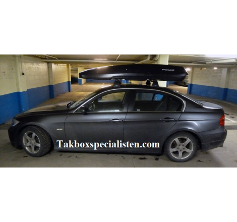 Takbox Packline F Basic Svart matt på BMW 3 Serie Sedan