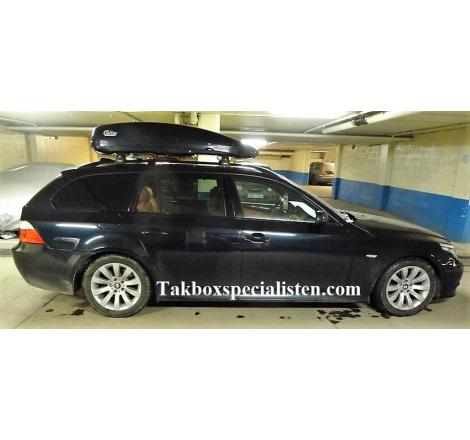 Takbox Calix 380 Svart högblank på BMW 5 Serie Touring