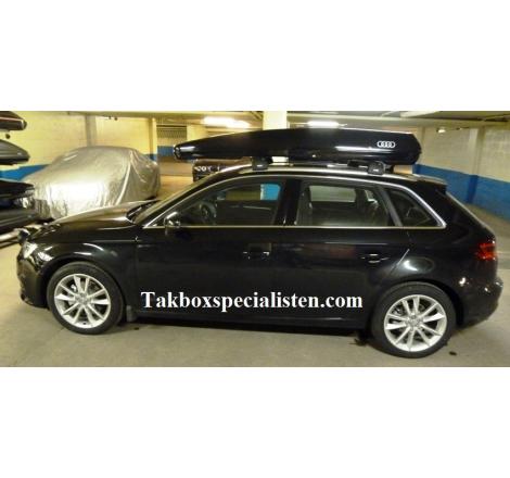 Takbox Packline FX-SUV 2.0 Svart högblank på Audi A3