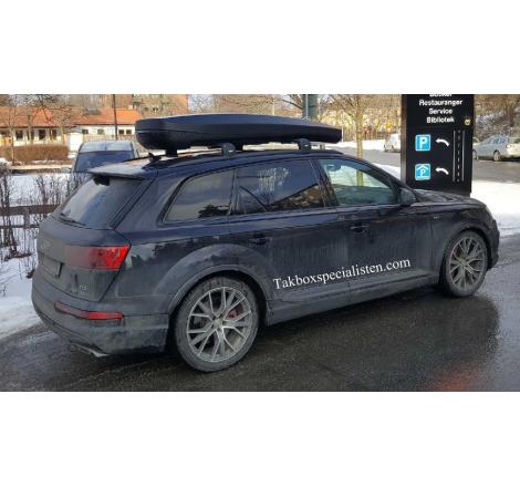 Takbox Packline NX Premium Svart matt på Audi Q7