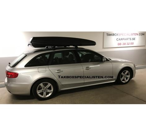 Takbox Packline F Sport Svart matt på Audi A4 Avant