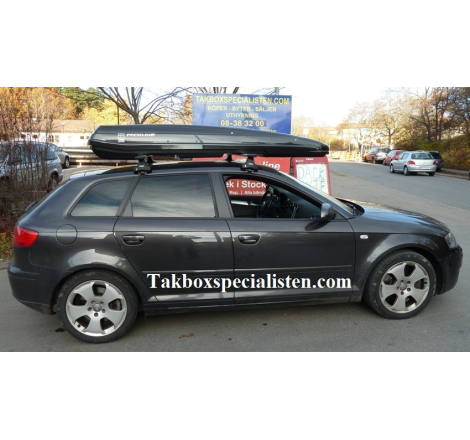 Takbox Packline F Elegance Svart högblank på Audi A3