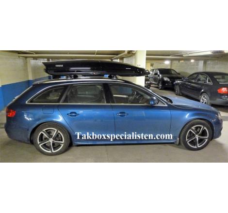 Takbox Thule Dynamic L900 Svart högblank på Audi A4 Avant