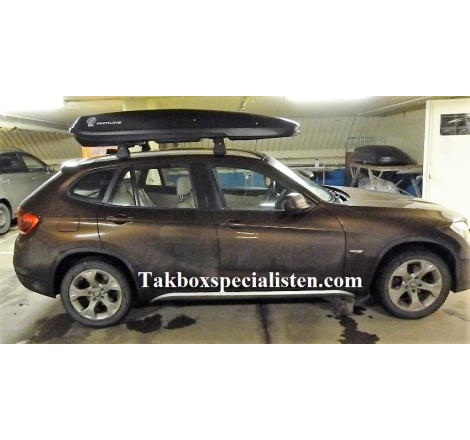 Takbox Packline F Basic Svart matt på BMW X1