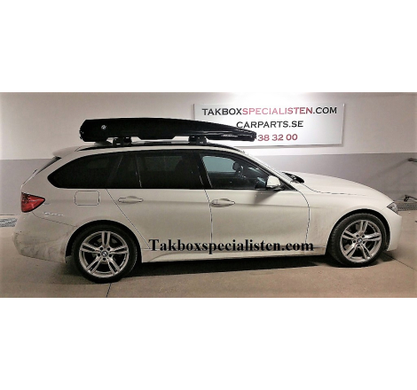 Takbox Packline FX-SUV 2.0 Svart högblank på BMW 5 Serie Touring