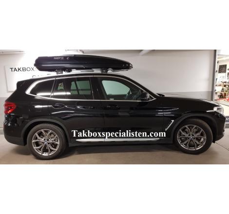 Takbox Hapro Zenith 8.6 Brilliantsvart metallic på BMW X3