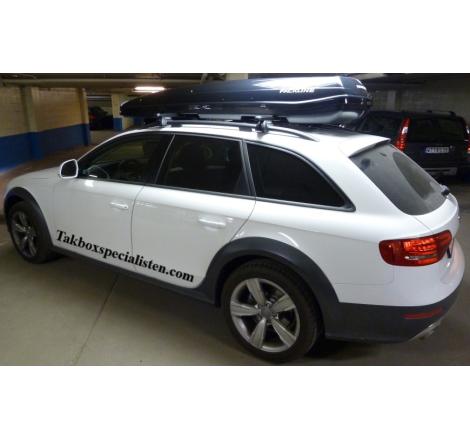 Takbox Packline F Elegance Svart högblank på Audi A4 Allroad