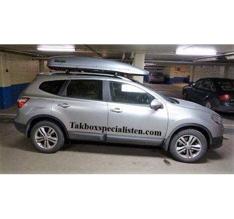 Takbox Calix 430/600 Silver metallic på Nissan Qashqai
