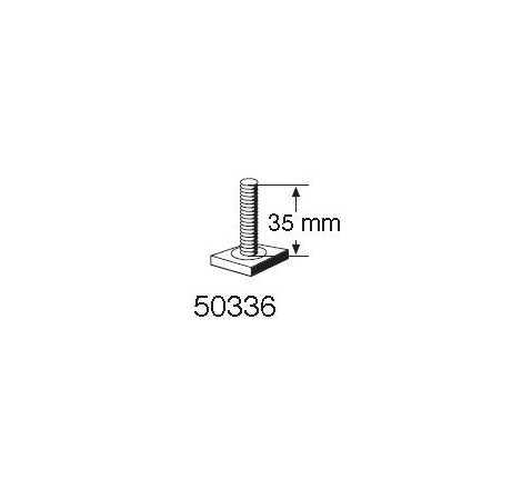 T-spårsskruv M6x35 mm till Cykelhållare Thule FreeRide 530 / 532 / Thule OutRide 561 / Thule Proride 591