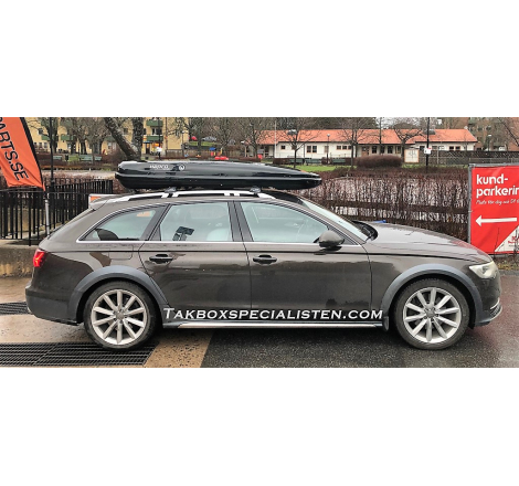 Takbox Hapro Nordic Brilliantsvart metallic på Audi A6 Allroad