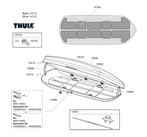 Sprängskiss Thule Dynamic L / 900