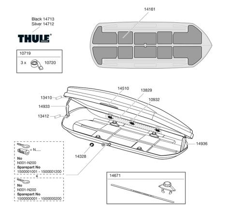 Sprängskiss Thule Dynamic M / 800
