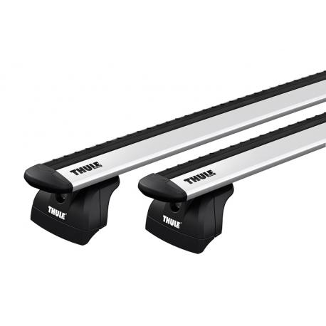 Thule WingBar Evo / takräcke BMW X5 5-dr SUV 2014-> Integrerad reling / flush rails