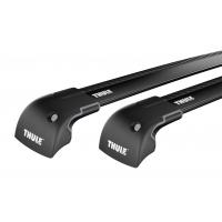 Thule WingBar Edge Black / takräcke BMW 3 series Touring (E91) 5-dr Kombi 2005-2011 Fasta fästpunkter