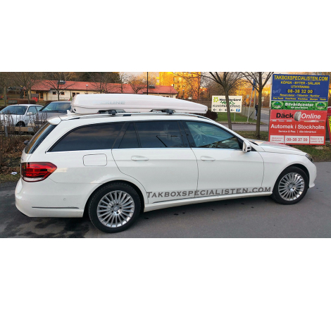 Takbox Packline FX-SUV 2.0 Vit på Mercedes Benz E-Class