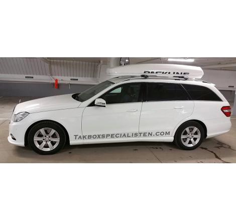 "Takbox Packline FX-SUV 2.0 Vit ""Glow Edition"" på Mercedes Benz E-klass"