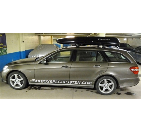 Takbox Packline Family Svart högblank på Mercedes Benz E-Class