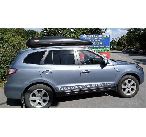 Takbox Calix 430/600 Svart matt på Hyundai Santa Fé