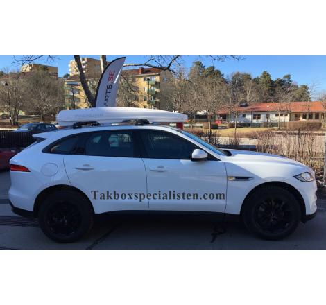 Takbox Packline FX-SUV 2.0 Vit högbank på Jaguar F-Pace