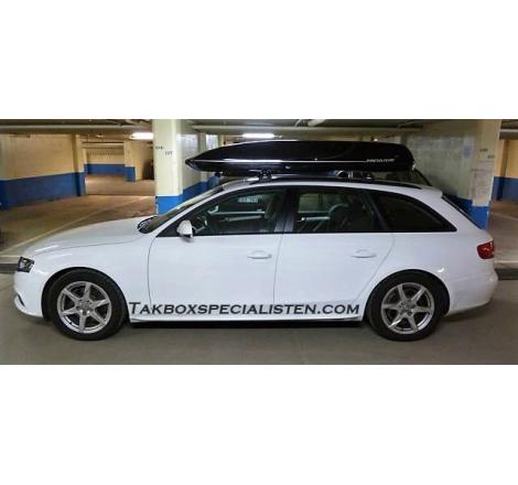 Takbox Packline 90 / Family Svart på Audi A4 Avant