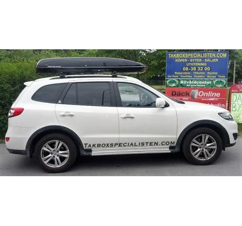 Takbox Packline 90 / Family Svart högblank på Hyundai Santa Fé