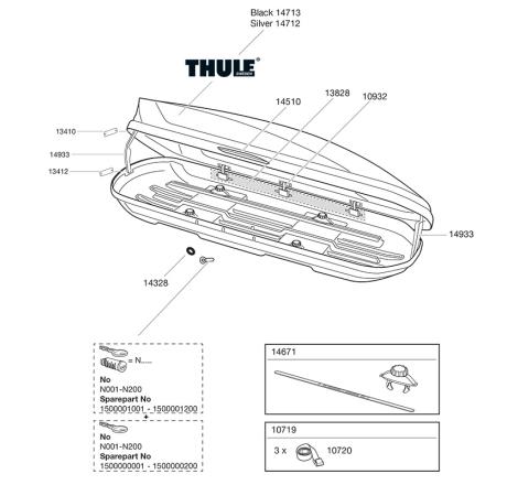 Sprängskiss Thule Motion 200