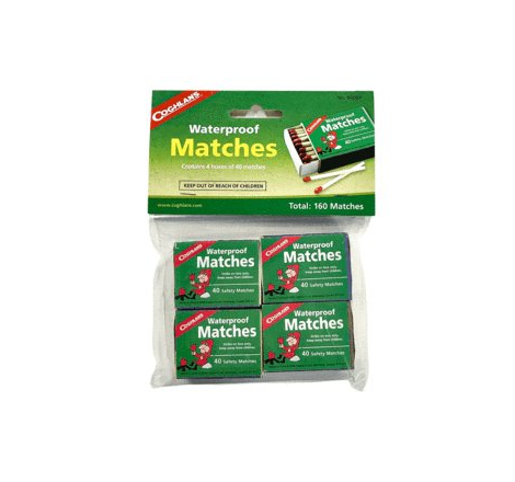 Waterproof Matches, 4-Pack