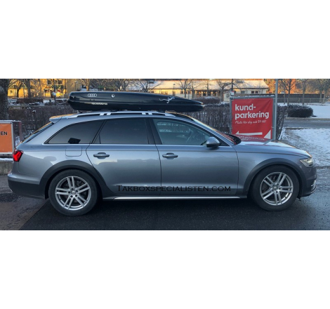 Takbox Hapro Nordic Audi Quattro Gecko Silver Edition Brilliantsvart metallic - 460 Liter