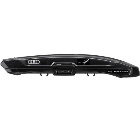 "Thule Vector L ""Audi Quattro Gecko"" Silver Edition"" Svart högblank - 430 Liter"