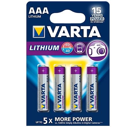 AAA Batteri Lithium
