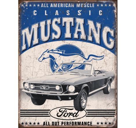 Plåtskylt Ford Mustang
